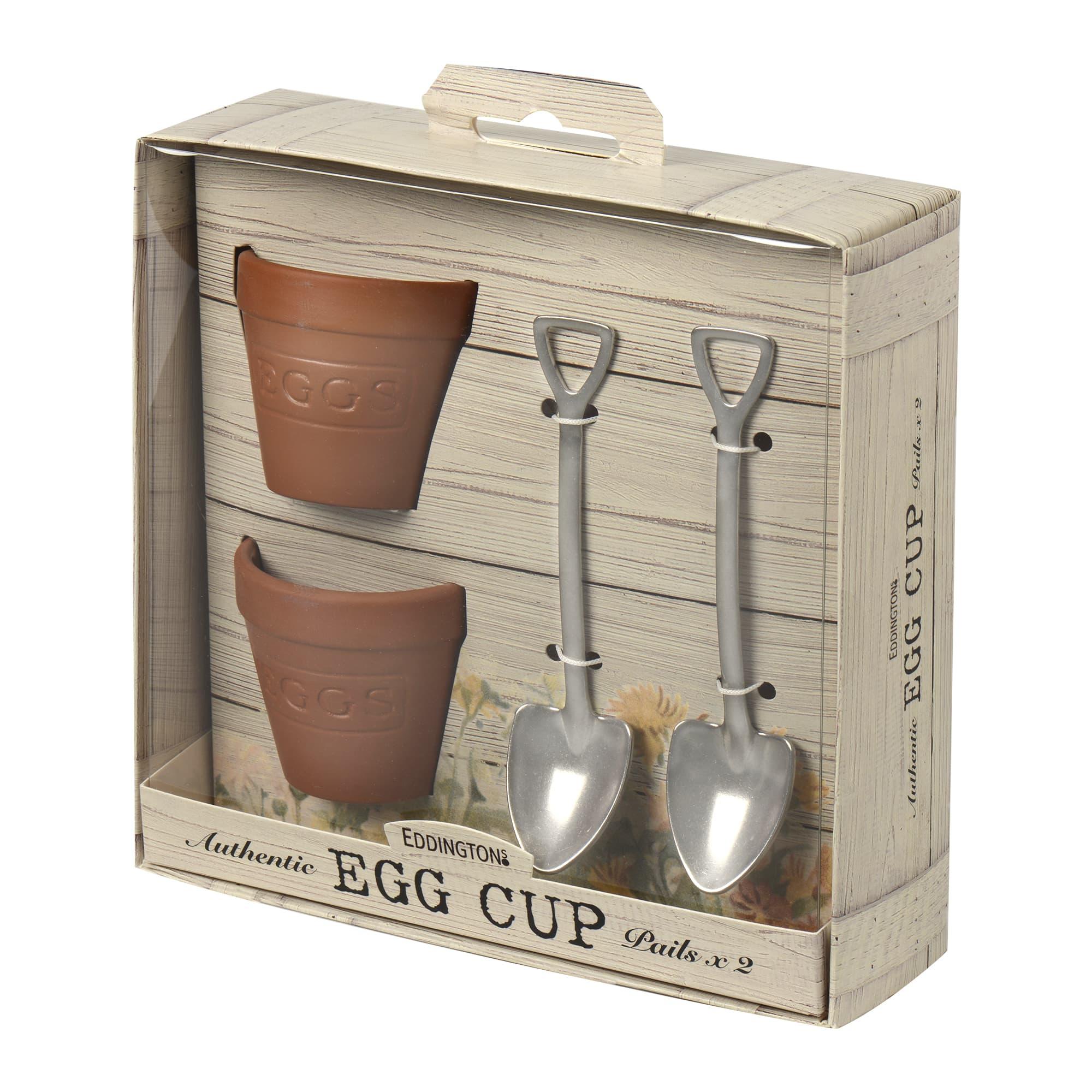 Eddingtons Ltd Flowerpot Eggcup Set