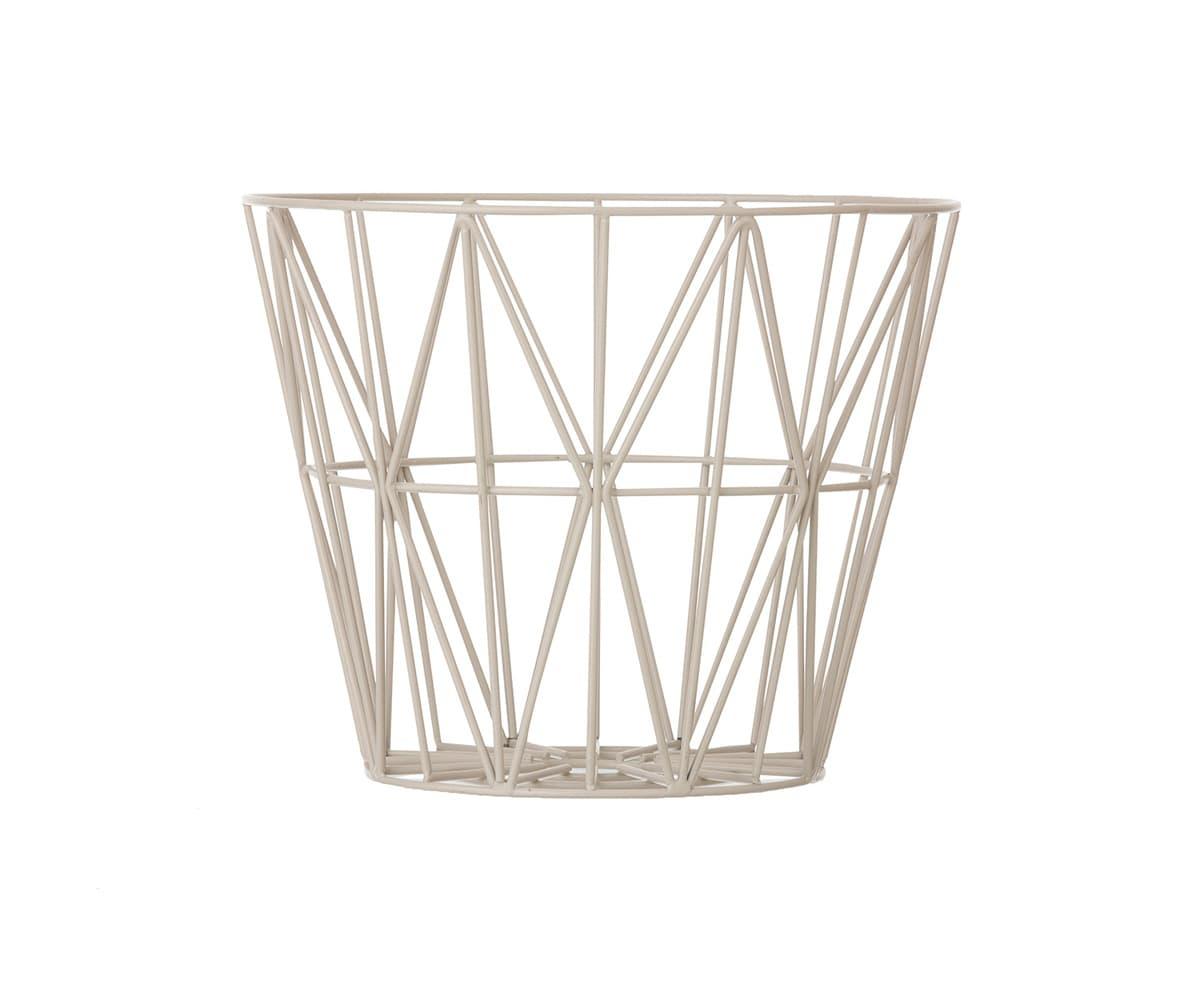 Ferm Living Light Grey Small Wire Basket