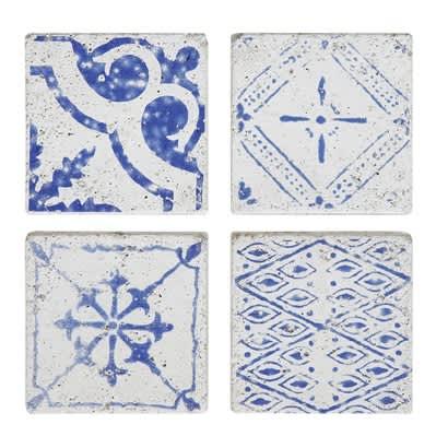 Bloomingville Terrain Tiles Blue Set Of 4