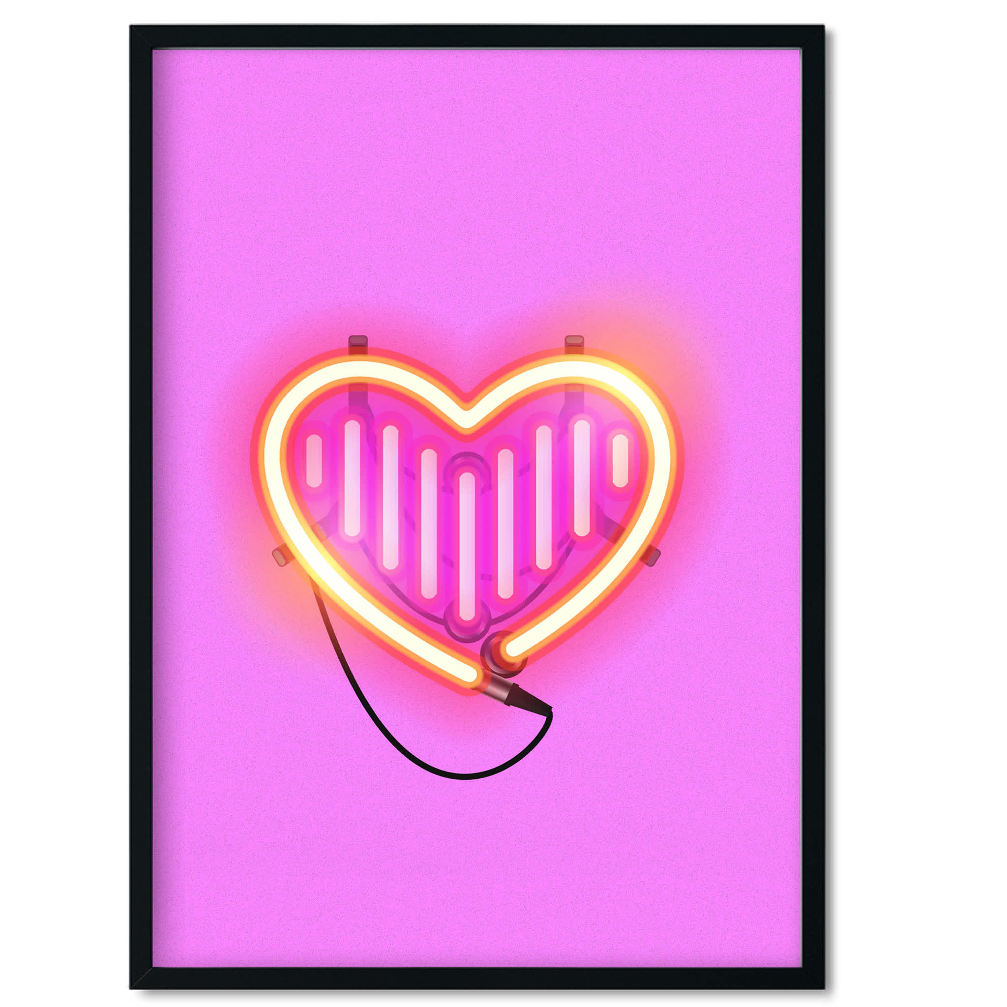Five And Dime 'Neon Insta Love' A3 Print
