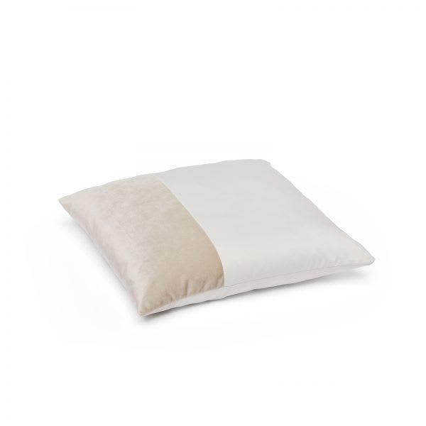 Puik White Metal Grey Duo Cushion