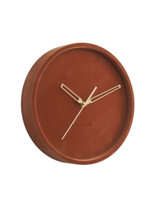 Karlsson Clay Brown Lush Velvet Wall Clock + colours