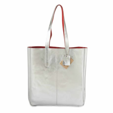 c4224e4c1 Trouva: Hydestyle Silver Metallic Leather Tote Bag