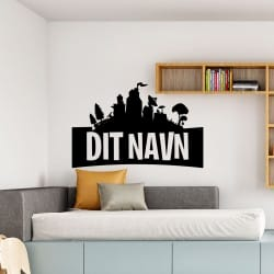 FORTNITE sticker med navn