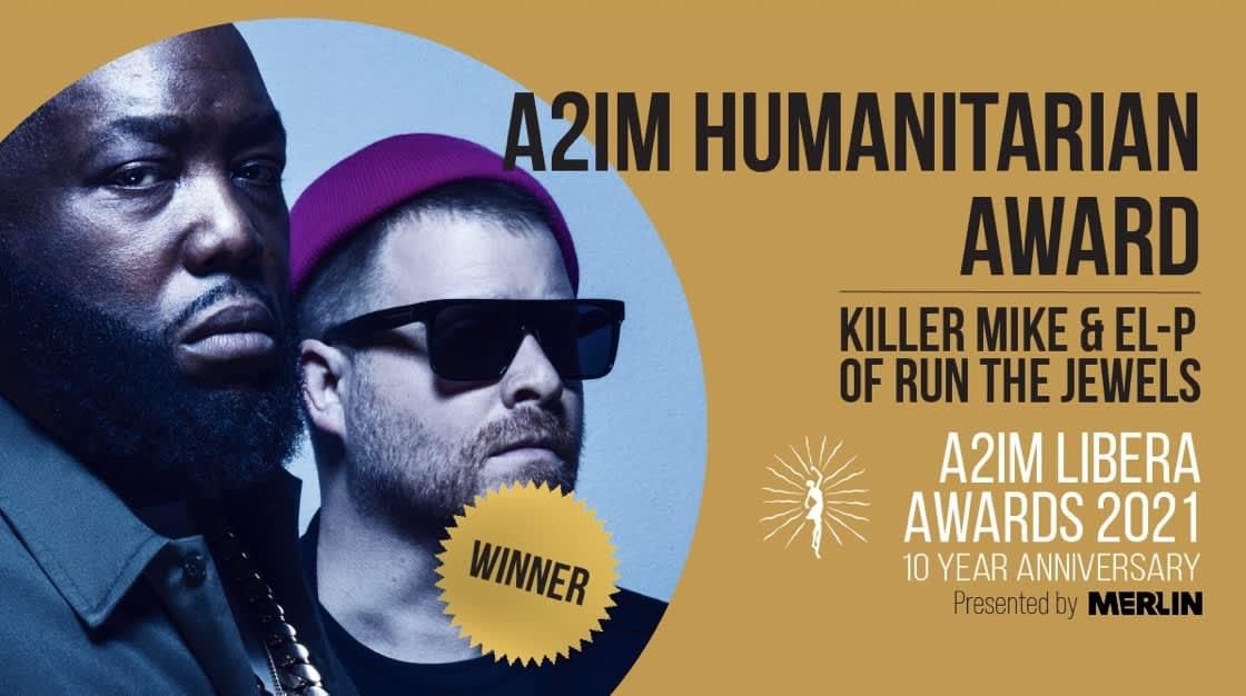 Killer Mike & EL-P of Run The Jewels win A2IM Humanitarian Award
