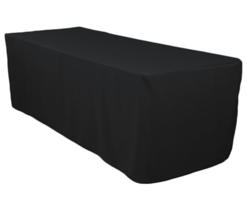 8 ft. Tablecloth - Black