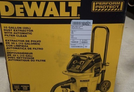 DWV012R 10 Gallon HEPA Dust Extractor with Automatic Filter Clean