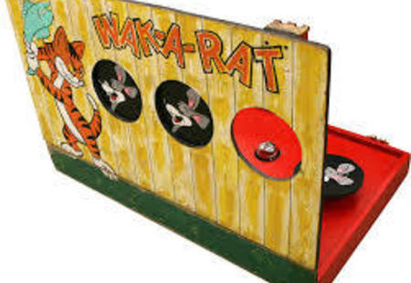 Wak-A-Rat Carnival Game