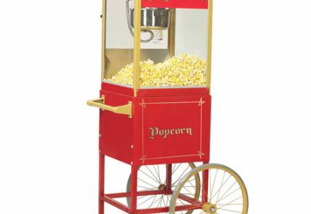 Popcorn Machine on Circus Cart