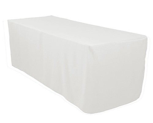 6 ft. White Tablecloth