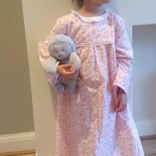 Girls Long Nightgown - Choose your pattern - Cotton - 2Y, 4Y, 6Y, 8Y, 10Y