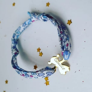 Bracelet Liberty Personnalisable - Ruban Ajustable. Fait-Main
