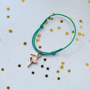 The Ballerina Bracelet with Ballerina charm. Handmade.