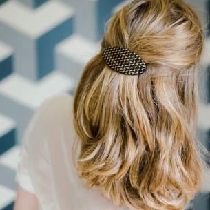 Damier Hair Slide - Checkered