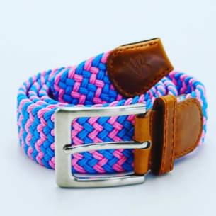 Chukka belts zigzag turquoise pink