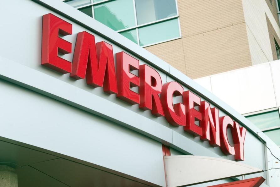 hospital emergency department sign
