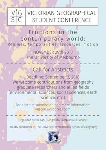 II Victorian Geographical Student Conference