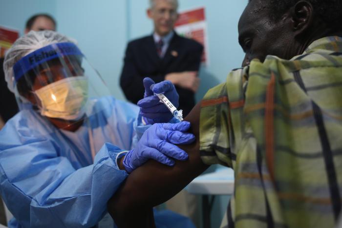 NIH launches Ebola vaccine trials in Liberia. Picture: John Moore, Getty Images