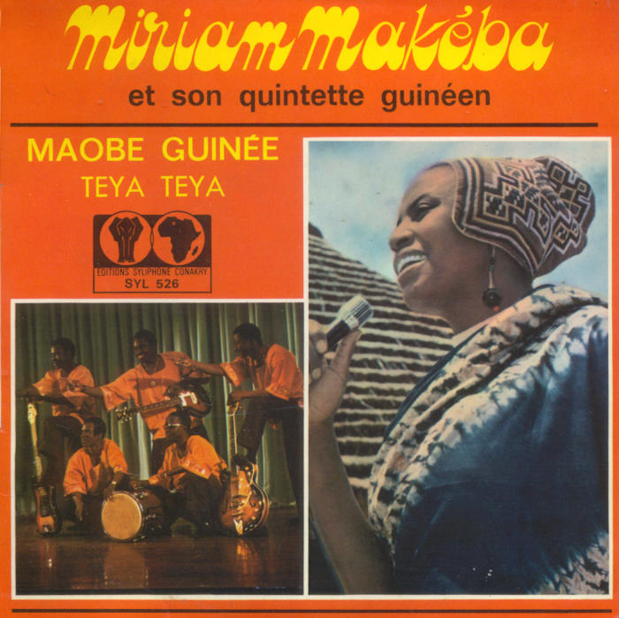 <strong>Miriam Makeba et son Quintette Guinéen. Maobé Guinée / Teya teya, </strong>1970. CC BY (Attribution) 'Editions Syliphone, Conakry', under license from 'Syllart Records/Sterns Music.