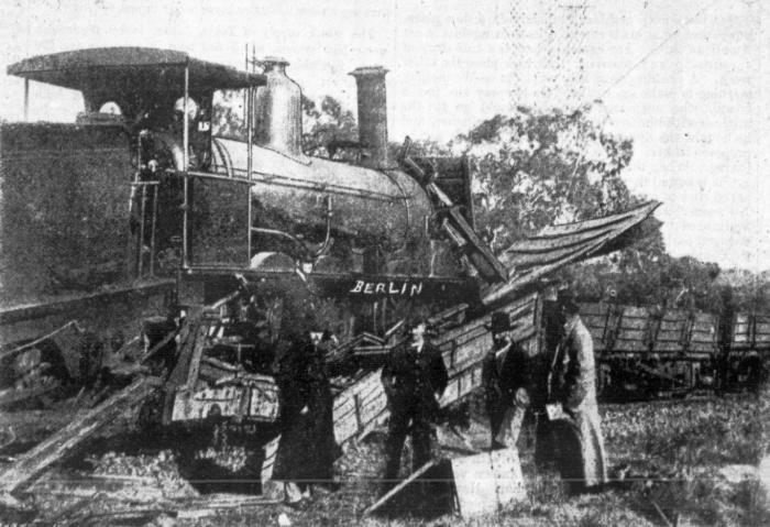 Australia's first news photograph, of a railway accident at Young, photographed by George Berlin on 15 September 1888. The picture appeared in the Sydney Mail. Picture: National Library of Australia