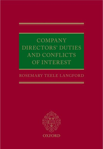 Book Launch: Company Directors' Duties and Conflicts of Interest