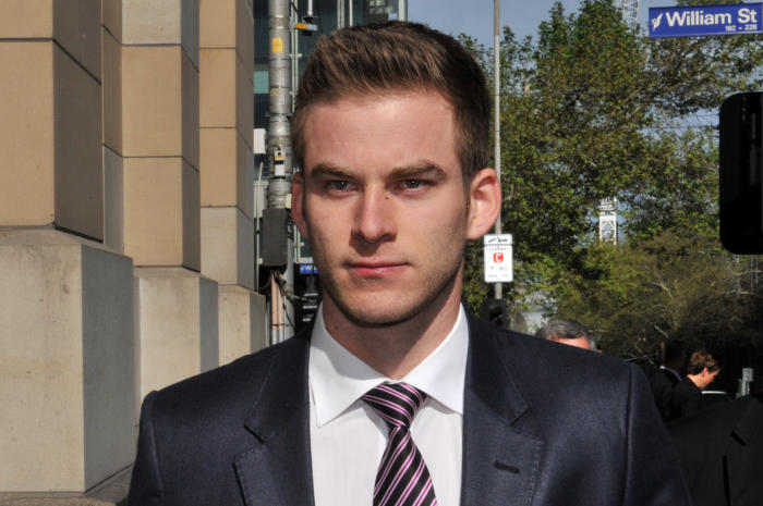 Lukas Kamay was jailed after netting more than $7 million from insider trading. Picture: AAP/Julian Smith