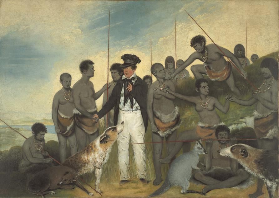 6e512ba7 'The Conciliation' painted by Benjamin Duterrau in 1840. Picture: Courtesy of  the Tasmanian Museum and Art Gallery