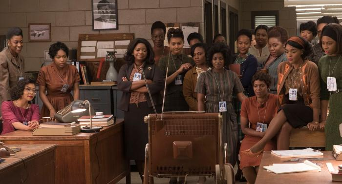 African-American women 'computers' were essential to the success of the early space missions. Picture: Fox Movies