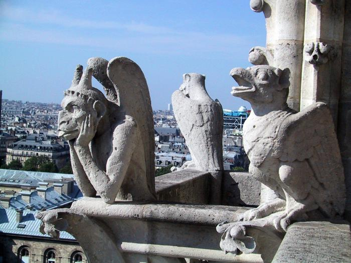 Gargoyles stand watch at Notre Dame in Paris. Picture: Flickr