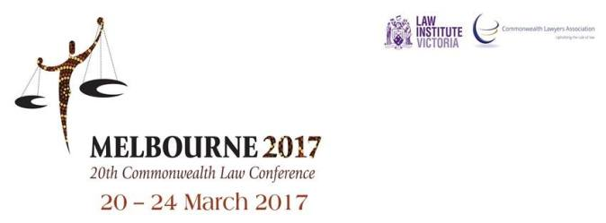 Melbourne 2017 20th Commonwealth Law Conference