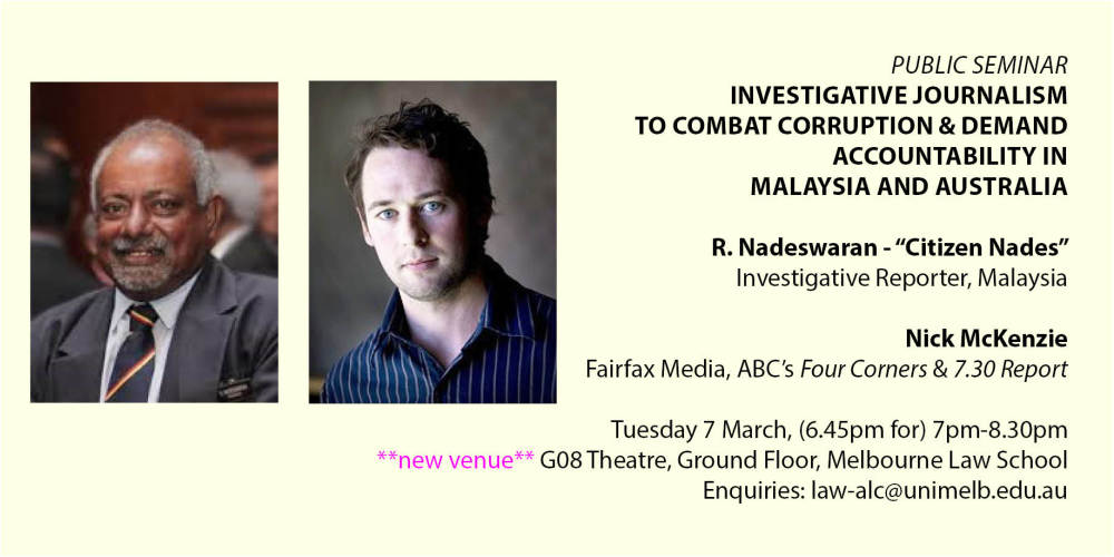 Investigative Journalism to Combat Corruption and Demand Accountability in Malaysia and Australia