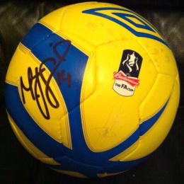 CHANCE TO WIN: FA Cup 2013 4th round match ball signed by Matt Smith!