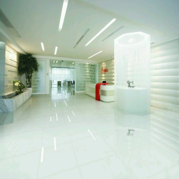 Extreme Pure Brilliant White Polished Porcelain 60cm X 60cm Floor Tile