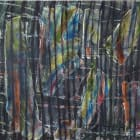 Gabriel Hartley, Phase 2014, oil and spray paint on canvas, 68.9 x 153.5 in. (175 x 390 cm)
