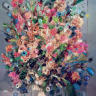 Sara Cwynar, Contemporary Floral Arrangement 5 (A Compact Mass), 2014, chromogenic print mounted on Dibond, 60 x 44 in. (154.4 x 111.8 cm.,) edition of 3 with 2 AP, SC_FP2762
