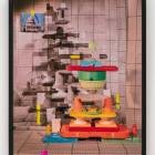 Sara Cwynar, White House (Color Cups), 2018, chromogenic print on metallic paper mounted to Dibond, 30 x 24 in. (76.2 x 60.96 cm)