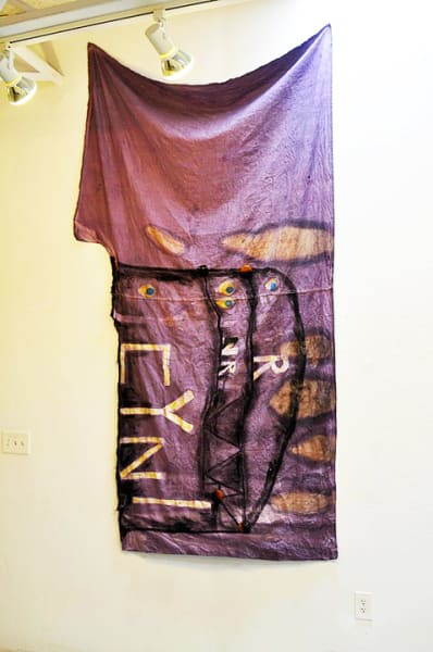 """""""Rapport Curtain""""  Mixed Materials and Fabric- 50"""" x 88"""""""