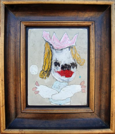 I'm an Ugly Motherfucker, mixed media, 13x15 in framed 2009 (sold)
