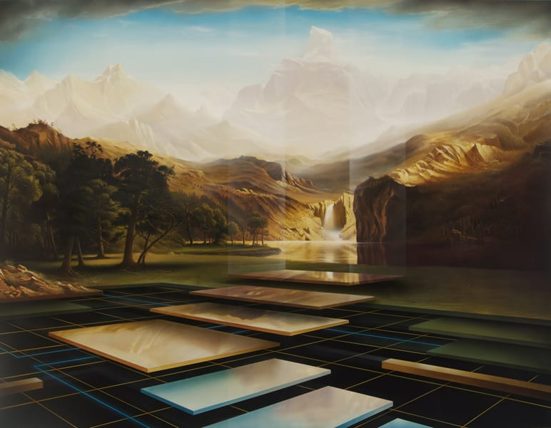 A Dream for a Place Beyond Borders-After Bierstadt