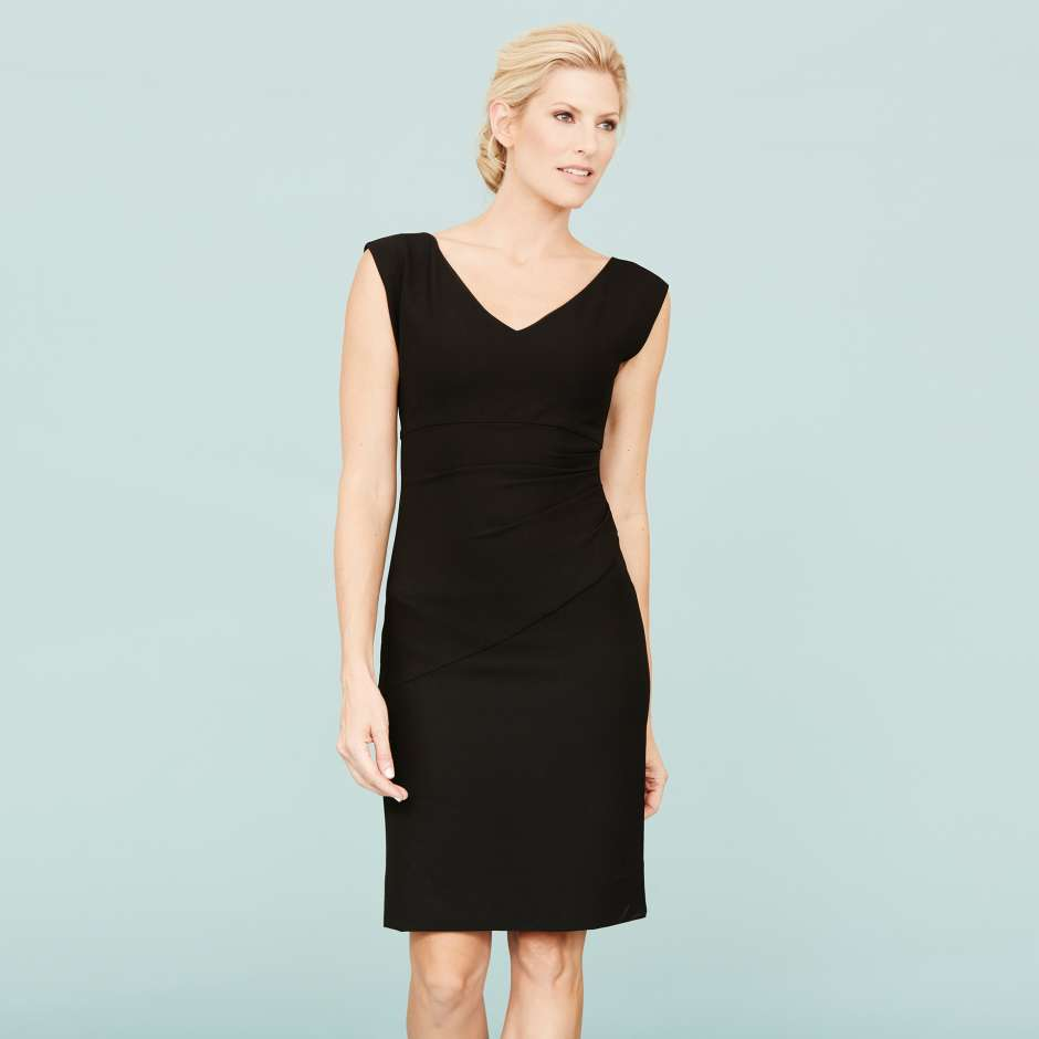 Women's wardrobe essential black dress