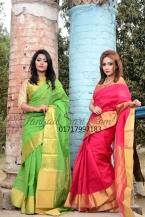 Pure Cotton Jori Par Tangail Saree