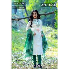 Bangladeshi unstitched Cotton Tant salwar kameez
