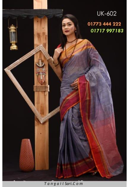 Soft Cotton Tangail Saree-UK-602