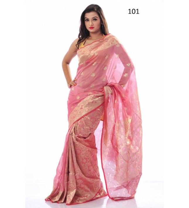 Soft Half-Silk Tangail Sari