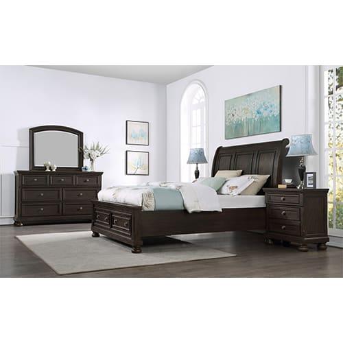 Spencer Bedroom 3PC Set - Queen Bed, Dresser, Mirror - SPENCER3PCQN