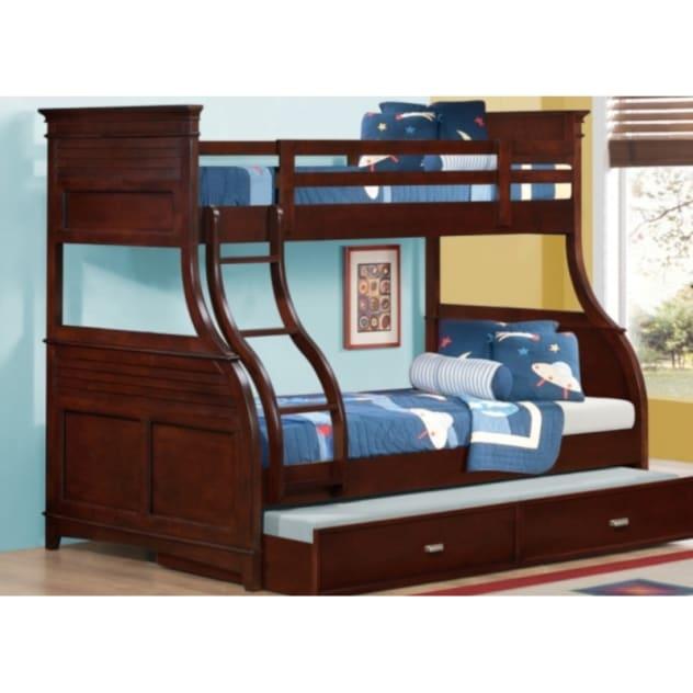 Skylar Twin Over Full Bunk Bed - Cherry SKYTWOVFLCHBB