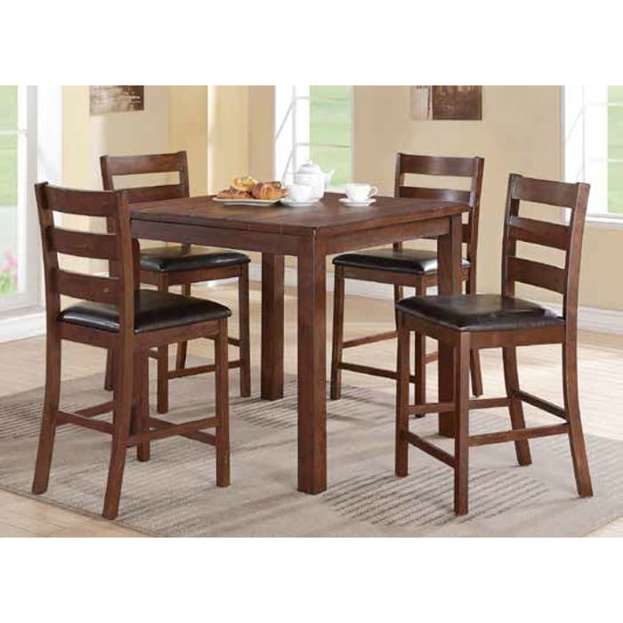 Franklin Counter Dining - Counter Dining Table & 4 Dining Chairs (2764T)