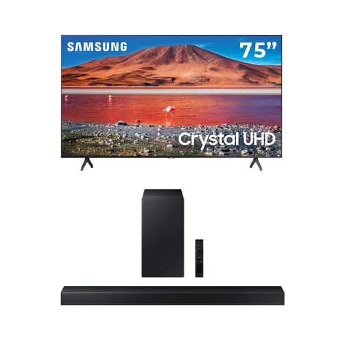 "Samsung 75"" TU7000 Crystal UHD 4K UHD Smart TV Bundle - 75TU7000BUNDLE"