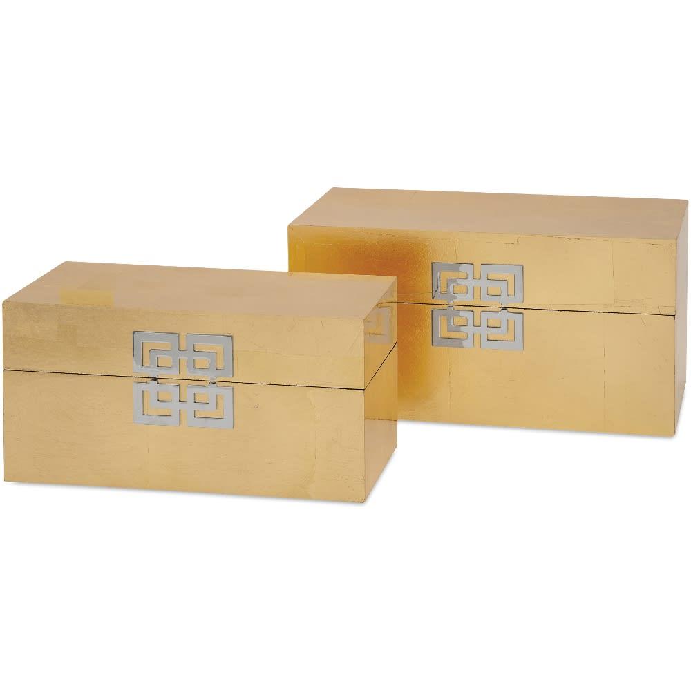 Danes Gold Leaf Boxes - Set of 2 - 99989