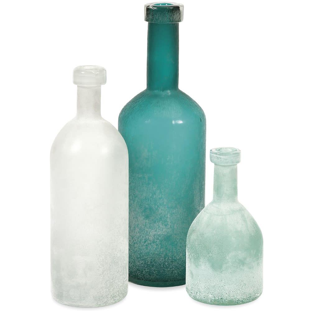 Russell Handblown Glass Bottles - Set 3 - 99992